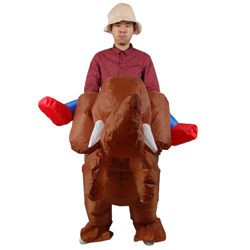 Purim Elephant Inflatable Costumes for Woman Adult Halloween Boy Outfits Inflatable Cowboy Ride Elephant Costume Cosplay