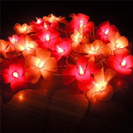 ФОТО Thailand Lights Handmade Orchid Screen Flower Lantern String Holiday Christmas Fairy Garland Luminaria Wedding Decoration Lights