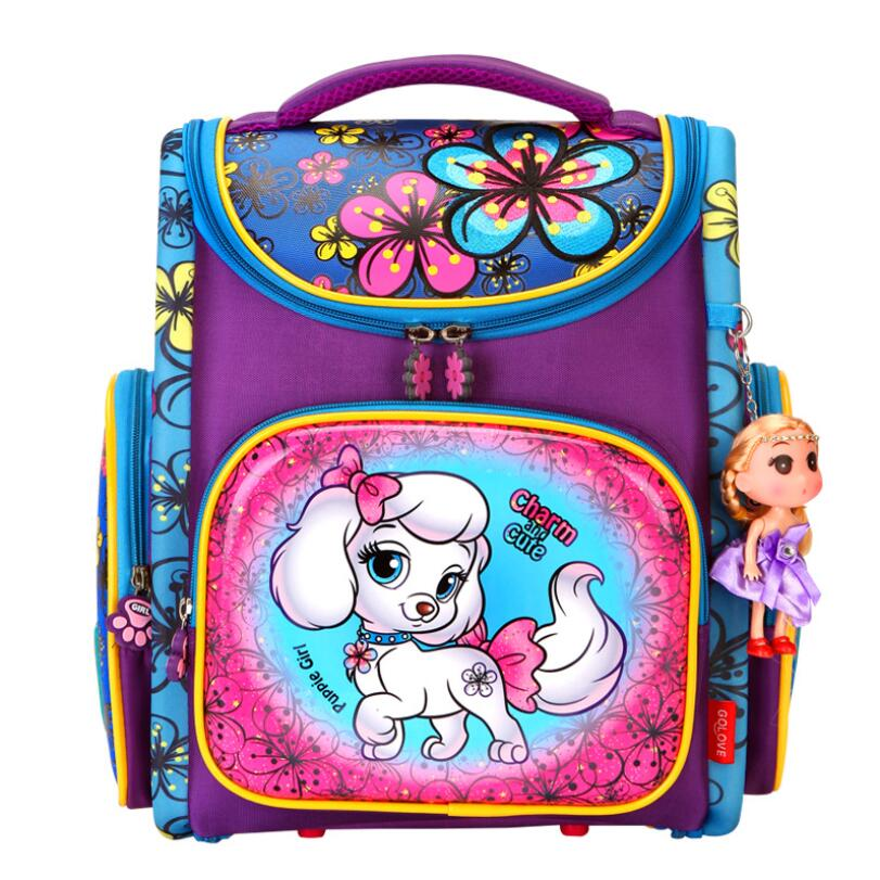 Orthopedic Backpacks Children Primary School Bags Girls Cartoon 3D Backpack School Knapsack Boy Kids Book Bag Mochila Escolar