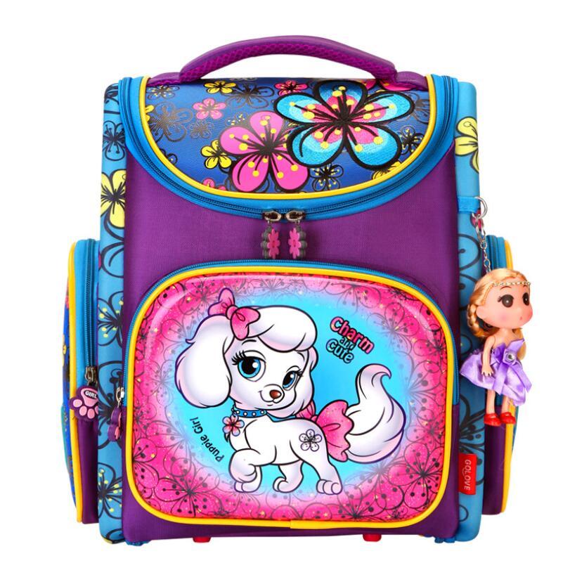 Orthopedic Backpacks Children Primary School Bags Girls Cartoon 3D Backpack School Knapsack Boy Kids Book Bag Mochila Escolar