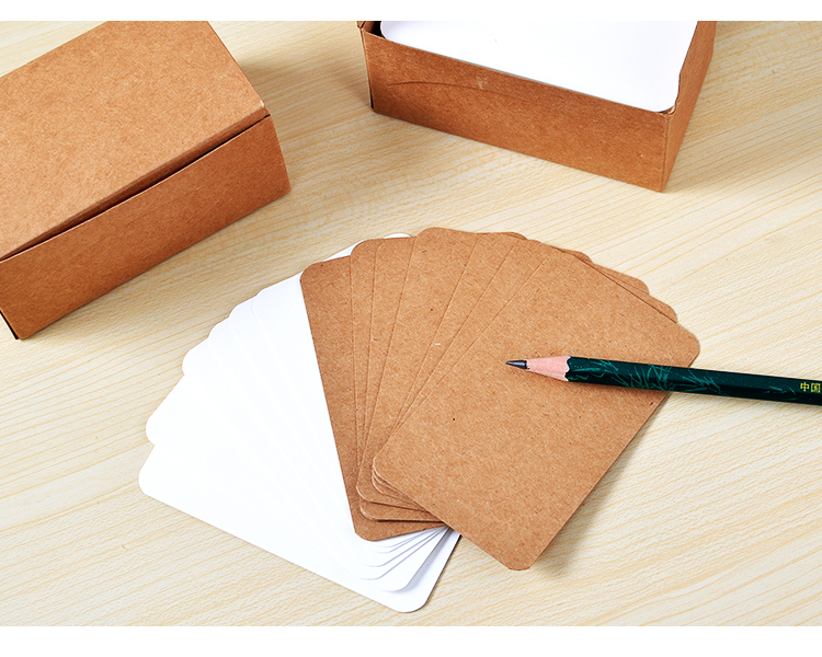 200pcs/lot 89*52mm Retro Thick Craft Paper Business Card Message Card Word Cards Jams Memo Pads segal business writing using word processing ibm wordstar edition pr only