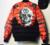 2017 NUEVO Collar Del Soporte de Algodón de Invierno Del Cráneo Imprimir Jacket Parka Cálida Ropa de La Marca de Moda Abrigos
