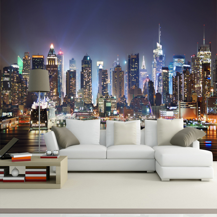 seamless bedroom sofa tv background scenery mural