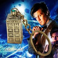 keychain dr doctor who dalek tardis police box vintage Pendant key chain keyring key holder Accessories Gift Toy for men women