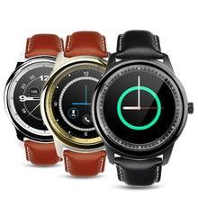 """Leder Smartwatch 1,22 """"Touchscreen Bluetooth 4,0 Pulsmesser Sprachsteuerung Schrittzähler PSG Sitzende Erinnerung Smart Uhr"""