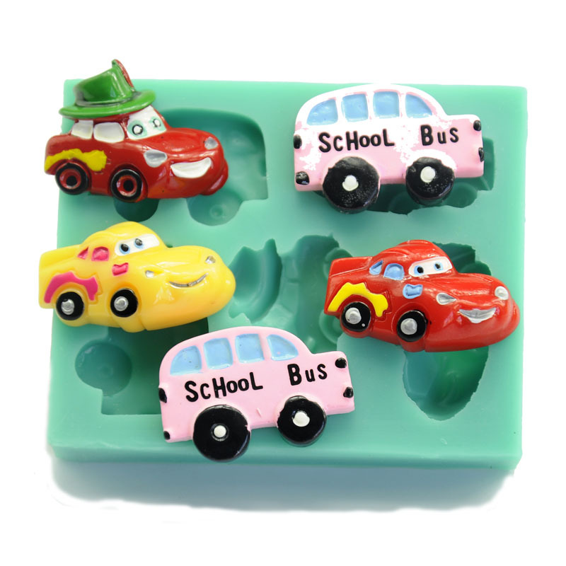 Five Design Car Silicone Soap Cake Mold Cake ...