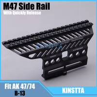 Tactical Russian AK47 74 47 Zenit B 13 20mm CNC Aluminium M47 QD Side Rail Red