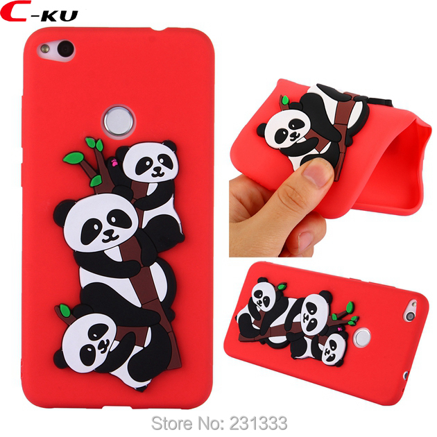 C-ku Cat Panda 3D Cartoon Soft Silicone Case For Huawei MATE 10 PRO P8 LITE 2017 P10 Y5  ...