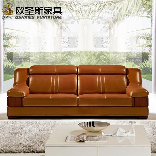 Wooden Decoration Sofa Furniture Modern Lobby Sofa Design China Buffalo  Leather Funitures Sofa Sets For Living