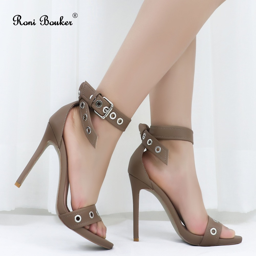 Roni Bouker Brown Heels Women Sandals 2019 Summer Newest Woman Super High Heel Ladies Fashion Peep Toe Buckle Strap Party ShoesRoni Bouker Brown Heels Women Sandals 2019 Summer Newest Woman Super High Heel Ladies Fashion Peep Toe Buckle Strap Party Shoes