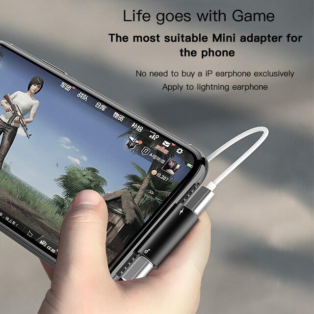 Adaptateur Audio Baseus 3 en 1 pour iPhone Xs Max Xr X connecteur pour écouteurs câble OTG pour iPhone 8 7 Plus adaptateur de charge/musique/appel