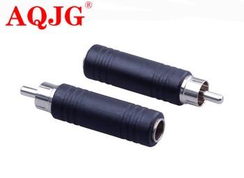 1 pz 6 .. 35mm Femmina Audio Presa a RCA Spina Maschio 6.35 a rca Spina jack Adattatore Connettore per Per Il Microfono