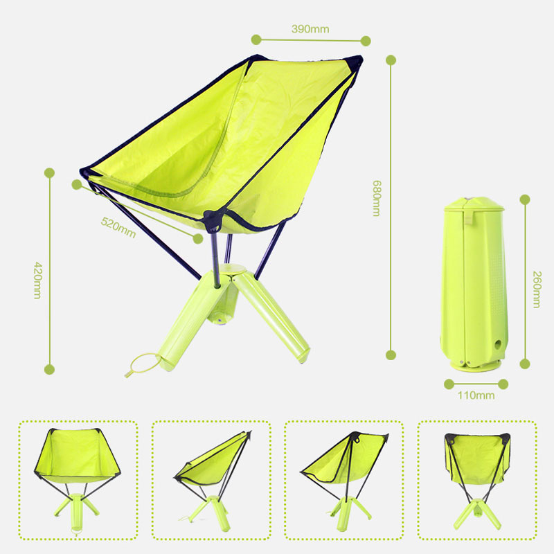 Outdoor chair Mini Portable storage folding chair Ultra Light Fishing Seat for Outdoor Camping Leisure Picnic Beach Chair outdoor folding chair picnic chair ultra portable fishing chair sketching stool director