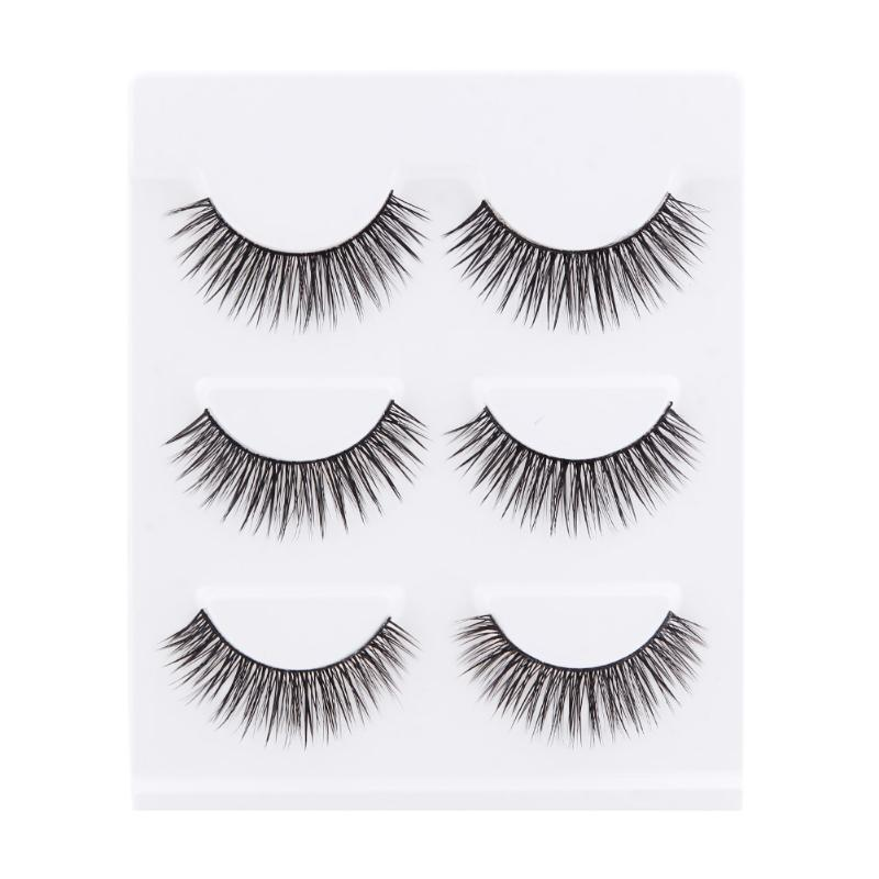 3 Pairs 1.3cm Handmade False Eyelashes Cotton Steam Intersect Beauty Fake Eyelash Extensions Beauty Cosmetic Makeup Tool