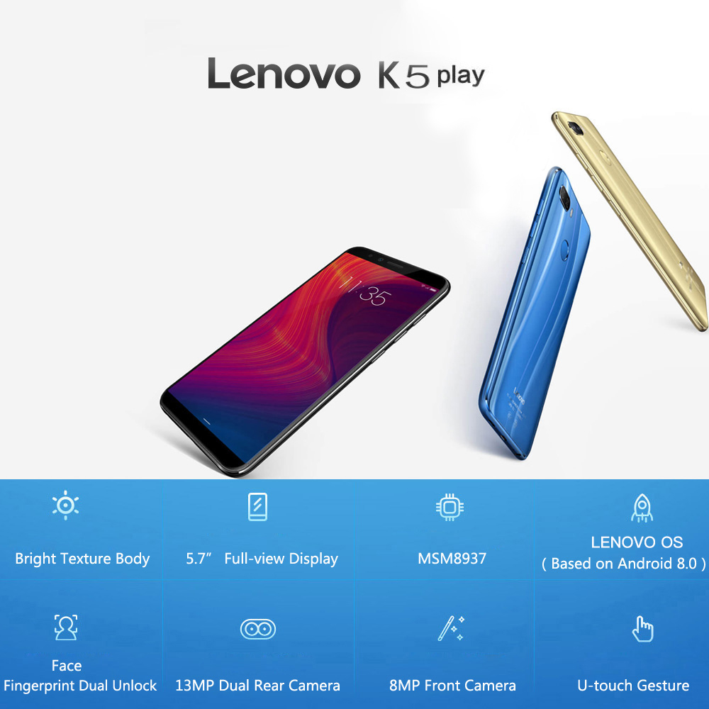 Global Version Lenovo K5 Play 3GB 32GB Snapdragon 430 Octa Core Smartphone (1)