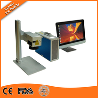 Free Computer 20W Metal Laser Marker Machine For Pigeon Rings