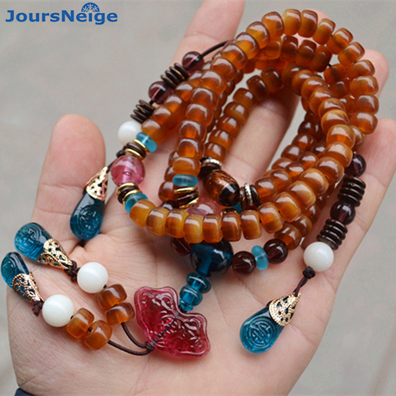 Wholesale Natural Mountain Turtles Shell Bracelets Buddha Beads Hand String for Women Men Rosary Original National Wind Jewelry