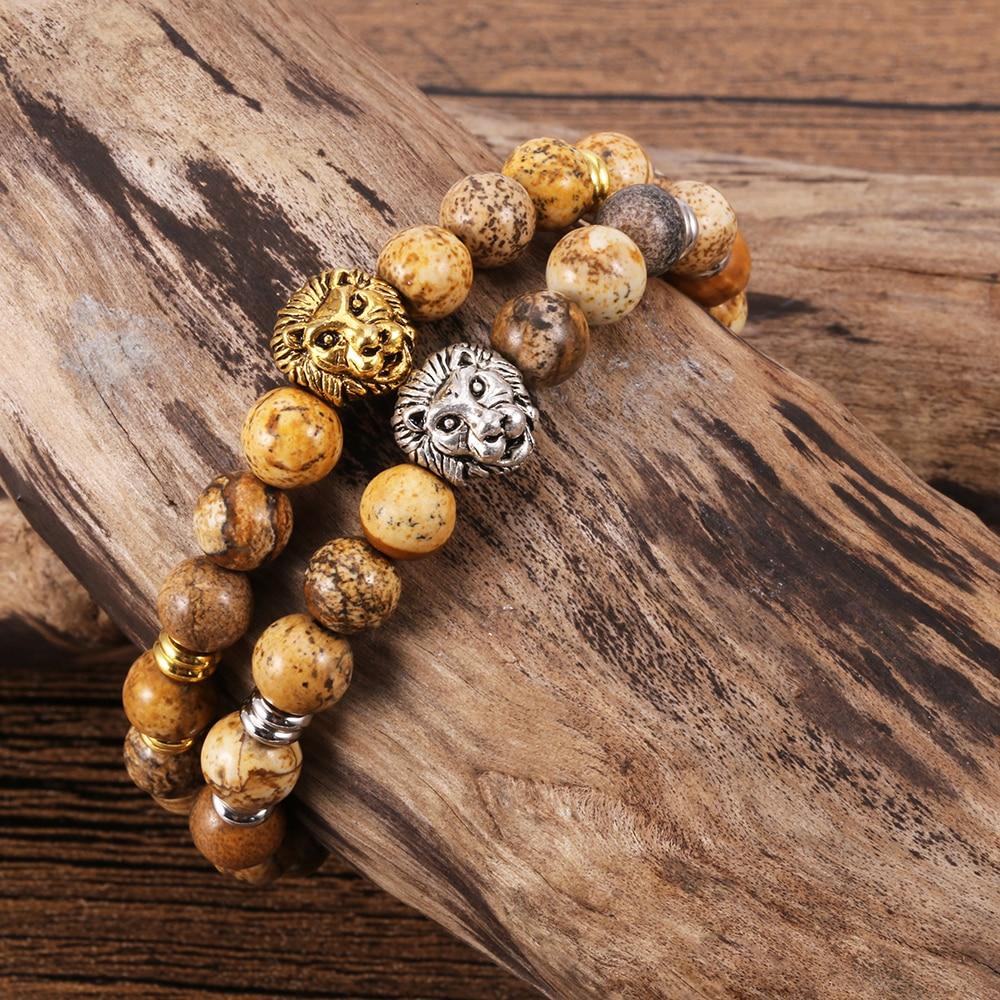 TL 2 Couleur Pierre Bracelet Creux Cercle/Trèfle À La Main Bracelets et Bracelets pour les Femmes Or/Argent En Acier Inoxydable bijoux