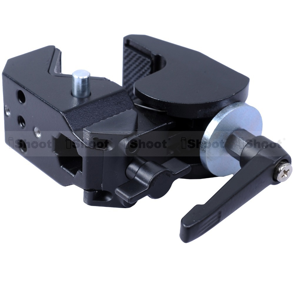 iShoot Strong Metal Crab Clamp Pliers Camera Mount Support Studio Flash Bracket Holder for Tripod Light Stand Boom Max. 10kg
