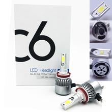 2X Бесплатная доставка, дешевый C6 H11 72 Вт 7600LM авто лампы комплект, светодиодный светильник белый
