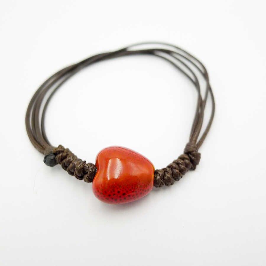 Perles en forme de coeur bracelets de corde et bracelets de cheville pour les femmes bricolage à la main échantillon bijoux en gros # DZ318