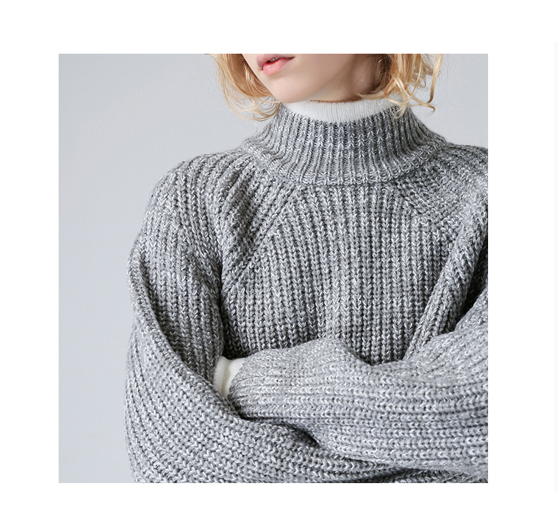a5f71d95db581 2019 Toyouth Color Block Knit Jumper Autumn Winter Womens Pullover ...