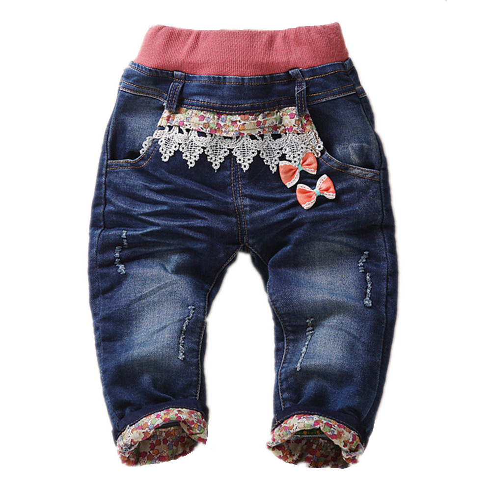 1-4T Baby Clothing Boys Girls Jeans Pants Soft Denim Kawaii Cat Animal Kids Clothes Toddler Pants Bebe Jeans High Quality