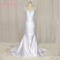 SuperKimJo Vestido De Novia De Seria Mermaid Wedding Dress 2017 Lace Applique Beaded Elegant Bridal Dresses for Women