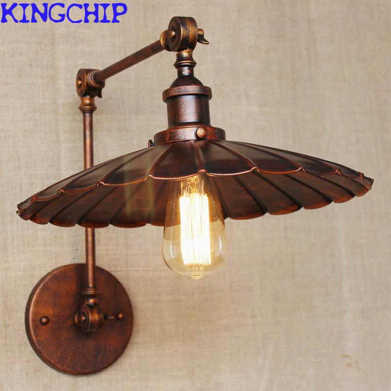 Industrial Portuguese Style Antique Rust Wall Lamp Swing Arm Wall Lighting  For Workroom BathroomPopular Antique Bathroom Lighting Buy Cheap Antique  Bathroom