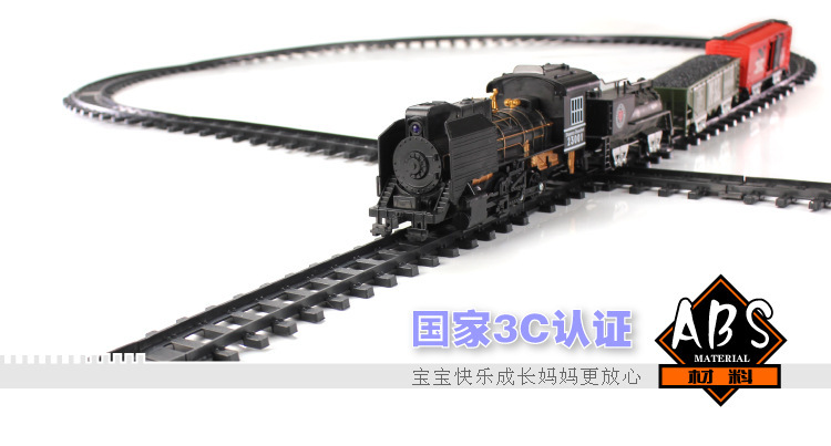 US $40 96 10% OFF|Hotsale electric toy train track long rail cars classic  children's toys Old train Kids Toys for children Best Gifts In Stock-in