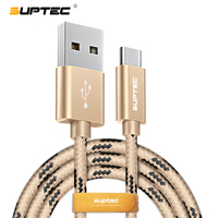 SUPTEC Type C USB Cable Nylon Type-C Fast Charging Data Cable for Samsung S8 S9 Huawei P10 P20 Oneplus Nexus 6P 5X Xiaomi 4C 5 6