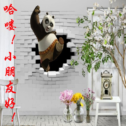 Custom backdrop custom living room bedroom wallpaper murals 3d three-dimensional non-woven wall paper children's room Animals book knowledge power channel creative 3d large mural wallpaper 3d bedroom living room tv backdrop painting wallpaper