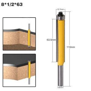"""Image 5 - 3 stücke 8mm Schaft 2 """"Flush Trim Router Bit Set Fräser mit Lager für Holz Vorlage Muster bit Holz Cutter Fräsen Werkzeuge"""
