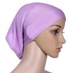 Women Islamic Hijab Cap Scarf  Tube Bonnet Hair Wrap Colorful Head Band