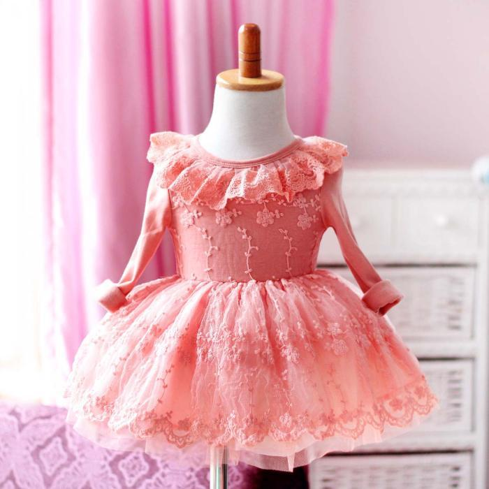 Newborn baby frock designs Christmas party princess pillowcase lace ...