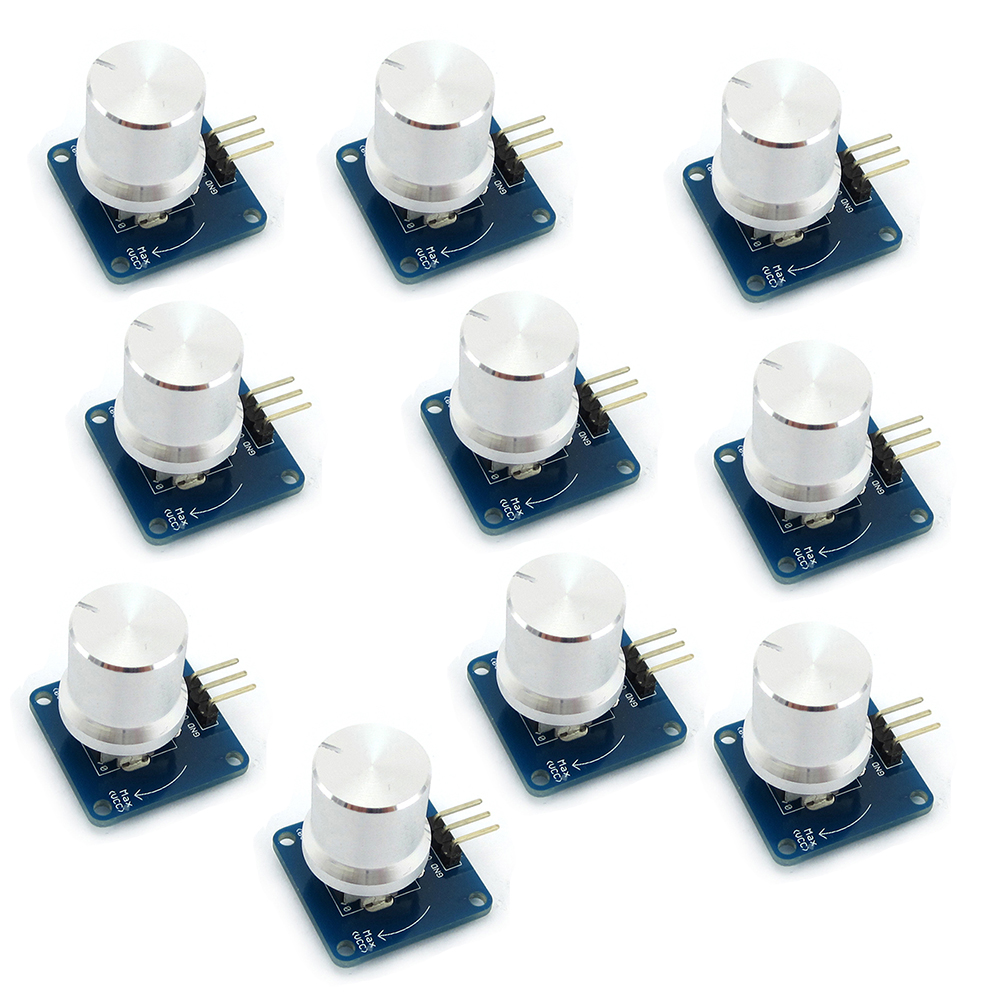 10Pcs Adjustable Potentiometer Knob Switch Rotary Angle Sensor Module Volume Control  For Arduino AVR STM32 FZ1580