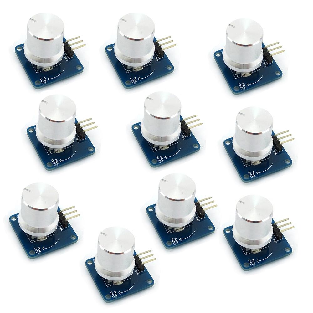 10Pcs Adjustable Potentiometer Knob Switch Rotary Angle Sensor Module Volume Control  For Arduino AVR STM32 FZ1580
