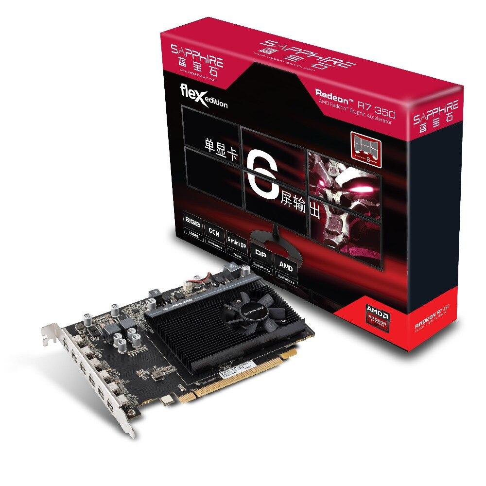 Sapphire Display-Card R7 350 New D5 Desktop 2G Stock Six-Screen Stir-Fried FLEX