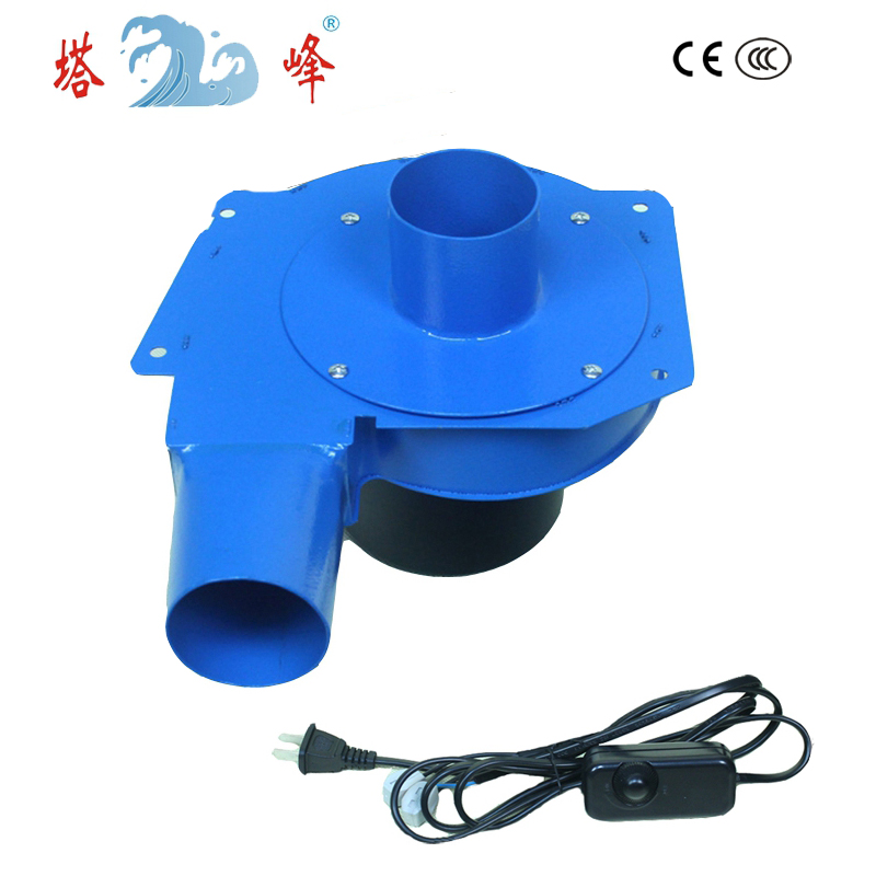 TAFENG 6cm pipe small air electric gas hot air steel housing suction blower centrifugal fan 220v with speed regulating 80w 60mm pipe small hot smoke gas lampblack extraction snail centrifugal ventilation fan blower dc 12v