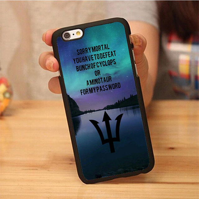 big sale ec9d4 0444c US $3.89 |percy jackson Cover case for Phone Cases OEM For iPhone 6 6S Plus  7 7 Plus 5 5S 5C SE 4S Soft Rubber Back Cover Shell OEM-in Fitted Cases ...