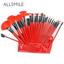 ALLSMILE 24 pcs Beauty Makeup brushes set Eye shadow Lip Blush Foundation Powder Brush Tool Kit Pincel Maquiagem Cosmetics Tools