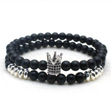 Black Crown Bracelet Stone Micro-inlaid zircon Gold Silver