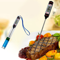 Mini Portable Digital LCD Display Kitchen Thermometer Household Kitchen Cooking Food Probe BBQ Sensor Caliber Heat Indicator