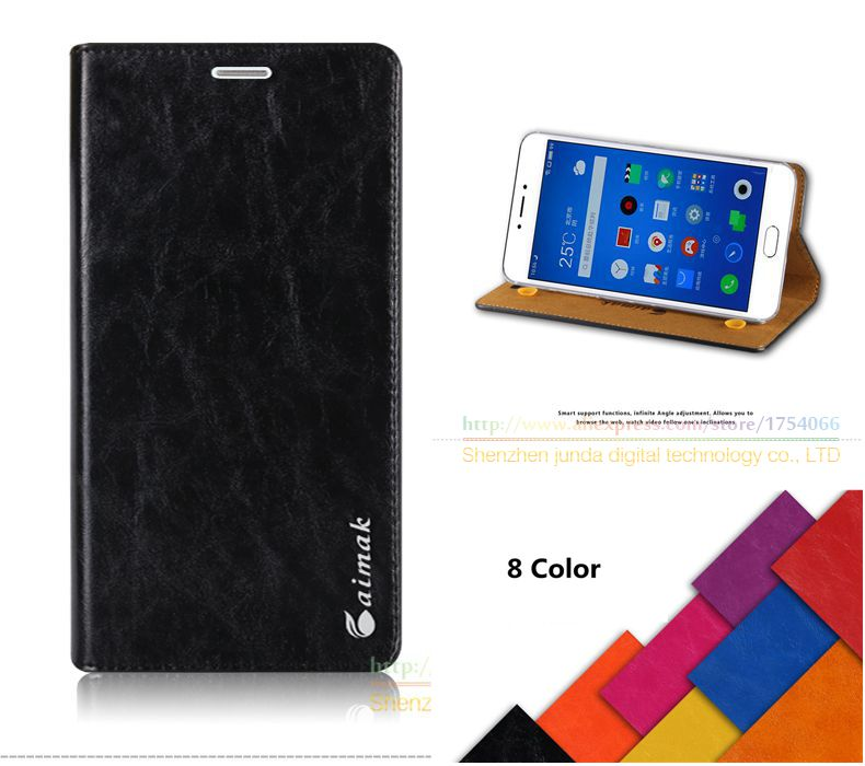 Aimak Brand Vintage Luxury Top Quality Genuine Leather Fashion Book Style Case For MEIZU MX5 MX