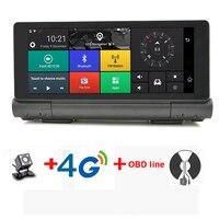 7 дюймов 4 г ADAS парковка Мониторы Видеорегистраторы для автомобилей Камера GPS Bluetooth 16 ГБ Android 5.1 Двойной объектив видео Регистраторы регистрат