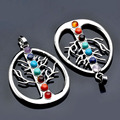 The Tree Of Life 7 Chakra Gems Stone Healing Sign Charm Pendant For Necklace New