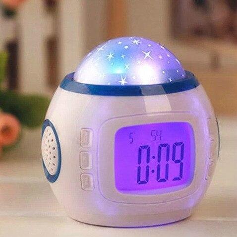 Sky Star Night Music звездное небо цифровой светодиодный проектор будильник, календарь,  ...