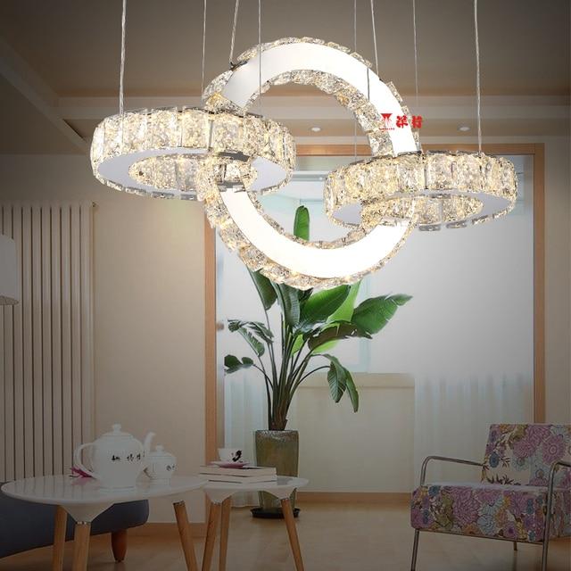Moderno LED Lampadario Di Cristallo Illumina La Lampada Per ...