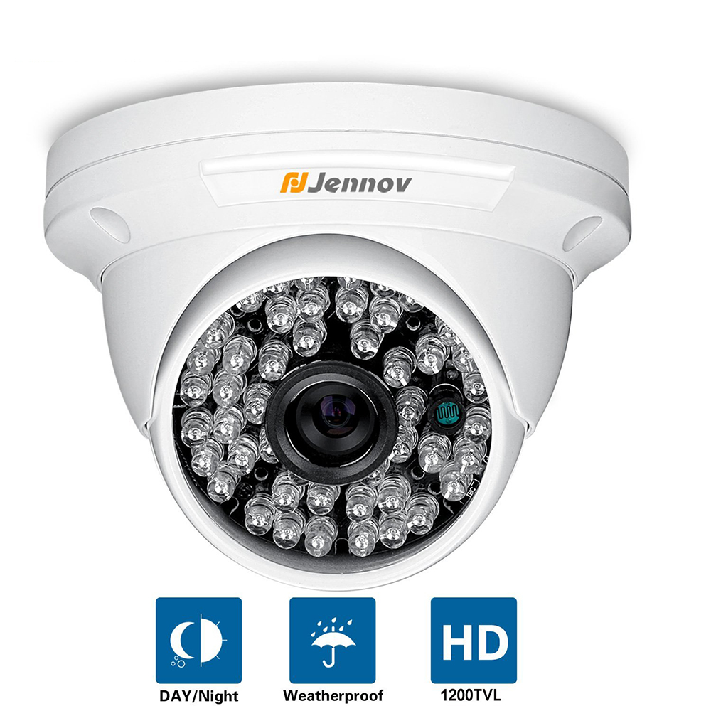 HD CMOS 1200TVL CCTV Camera Mini Dome Security Analog Camera indoor IR CUT Night Vision Surveillance Cam 48 LEDS Lights For DVR
