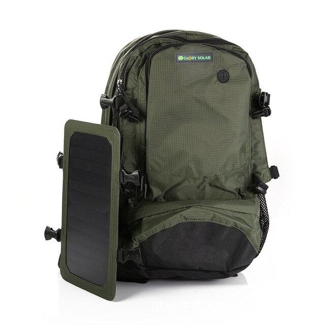 Solar backpack solar charging travel bag men and women shoulder bag mobile phone charging backpack 1